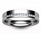 Palladium Full Eternity Brilliant  Offset Diamond  Ring