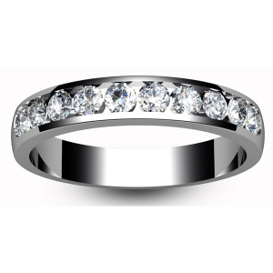 18ct White Gold Eternity Ring Ten to Two Setting