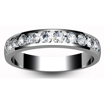 9ct White Gold Eternity Ring Ten to Two Setting Brilliant