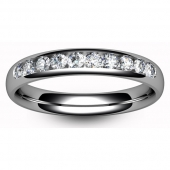 9ct White Ten Stone Eternity Ring Brilliant Diamond
