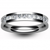 Platinum Full Eternity Princess Diamond Ring