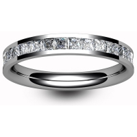 Platinum Full Eternity Princess Diamond Ring