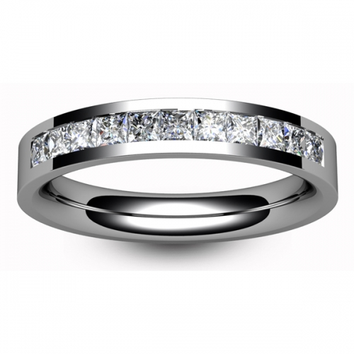 Diamond Wedding Ring - Half Channel Set - All Metals