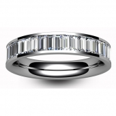 Platinum Full Eternity Baguette Cut Diamond  Ring