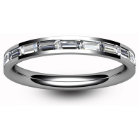 Eternity Ring (TBC3005H) - Half Channel Set Baguette - All Metals