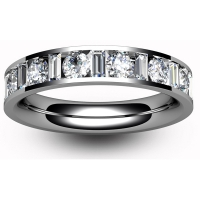 Eternity Ring (TBC403H) - Half Channel Set - All Metals