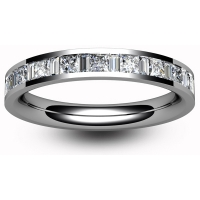 Eternity Ring (TBC6002H) - Half Channel Set - All Metals