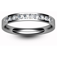 Eternity Ring (E2518) - Half Channel Set - All Metals