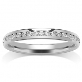 Platinum Half Eternity Ring - Channel Set