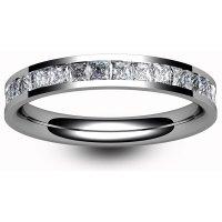 18ct White Gold Full Eternity Princess Diamond Ring