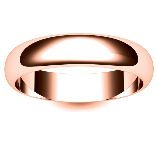 d shape light 5mm dssl5 r rose gold wedding ring - Rose Shaped Wedding Ring