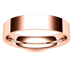 Flat Court Very Heavy -  5mm (FCH5-R) Rose Gold Wedding Ring