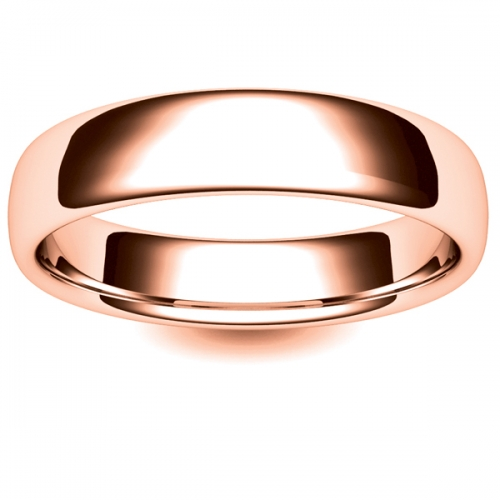 Soft Court Medium - 5mm (SCSM5-R) Rose Gold Wedding Ring