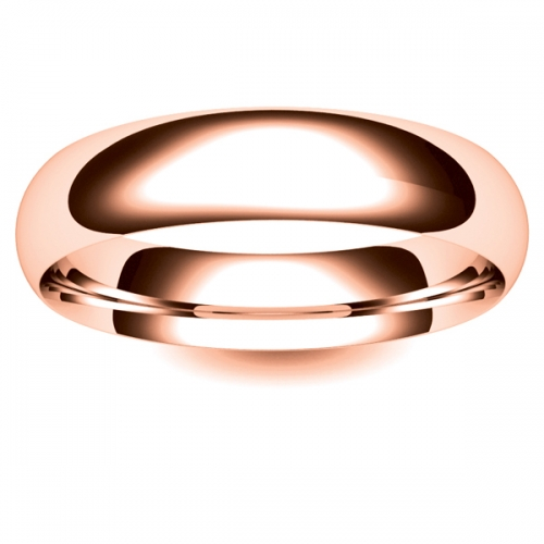 Court Light - 5mm (TCSL5-18R) 18ct Rose Gold Wedding Ring