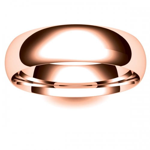 Court Very Heavy -  6mm (TCH6-R) Rose Gold Wedding Ring