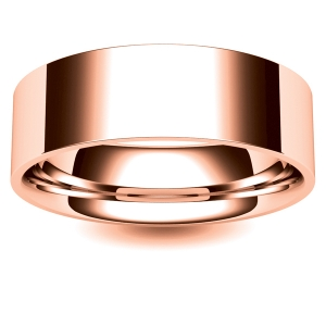 Flat Court Medium - 7mm (FCSM7-R) Rose Gold Wedding Ring