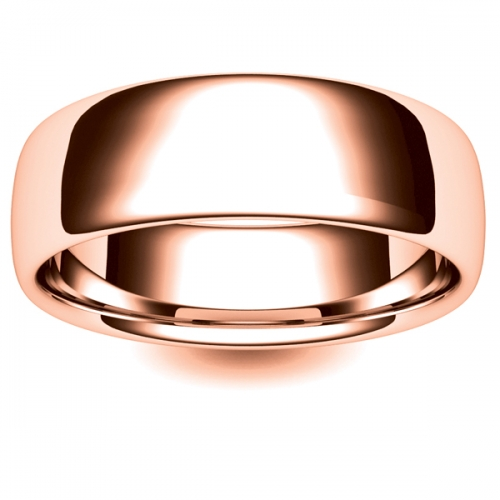 Soft Court Very Heavy - 7mm (SCH7-R) Rose Gold Wedding Ring