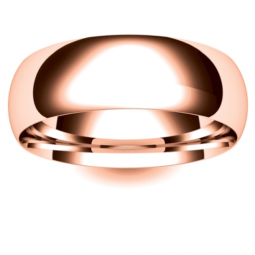 Court Medium -  7mm (TCSM7-R) Rose Gold Wedding Ring