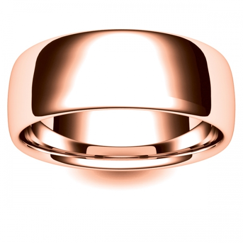 Soft Court Very Heavy - 8mm (SCH8-R) Rose Gold Wedding Ring