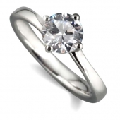 Platinum Diamond Engagement Ring Solitaire