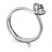 Platinum Diamond Engagement Ring Solitaire - Fast Delivery