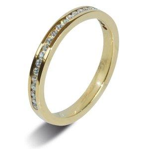 18ct Yellow Gold  Half Eternity 0.25ct Diamond Ring