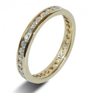 9ct Yellow Gold Full Set Diamond Eternity Rings
