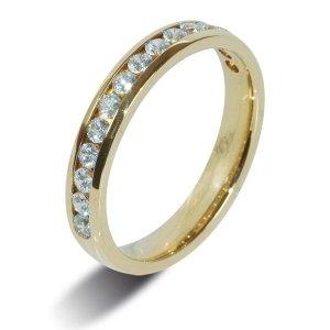 9ct Yellow Gold Half Set Diamond Eternity Rings