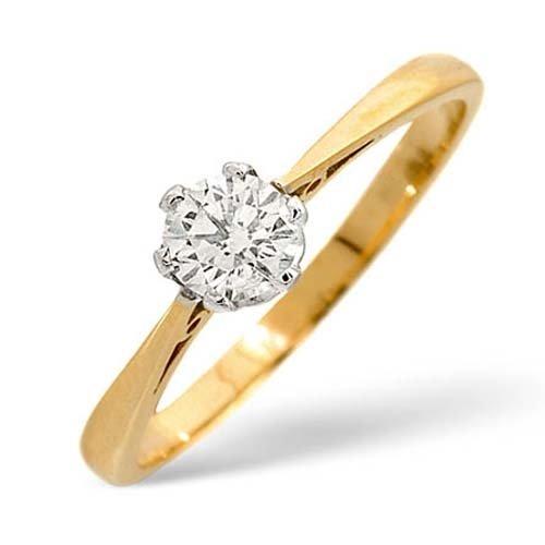 Diamond Ring 0.35 carat - 9ct Yellow Gold Engagement Ring