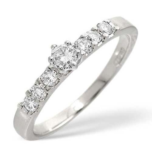 Diamond Ring 0.33 carat - 9ct White Gold Eternity