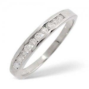Diamond Ring 0.24 carat - 9ct White Gold Eternity Ring