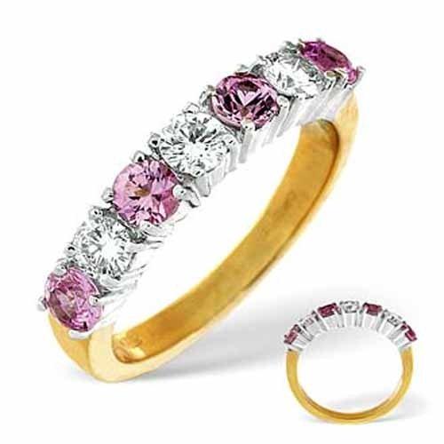 Diamond Rings  9ct White Gold Diamond and Amethyst Ring