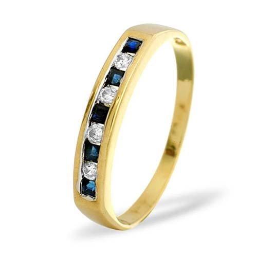 Diamond Rings - 0.09 Diamond & Sapphire Eternity Ring