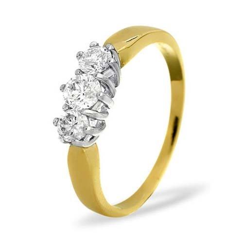 Diamond Ring 0.50 carat - 9ct Yellow Gold Eternity Ring
