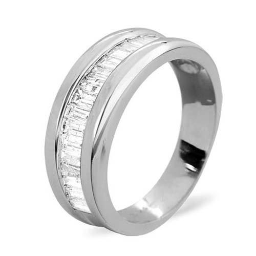 Diamond Ring 1.0 carat - 18ct White Gold Eternity Ring
