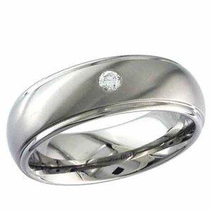 Titanium & Diamond Rings
