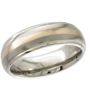 Inlaid Titanium Wedding Rings