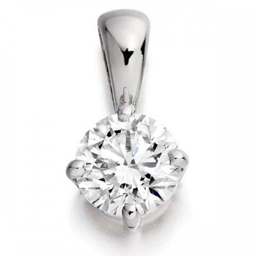 18ct Gold Brilliant Cut Diamond Pendant