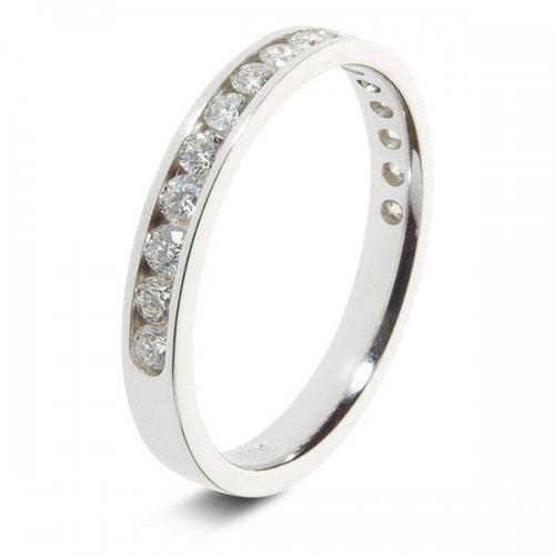 9ct White 0.50ct Brilliant HSI Diamond Eternity Ring - 2.9mm Band
