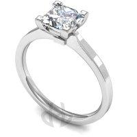 18ct White Gold Princess Diamond Engagement Ring