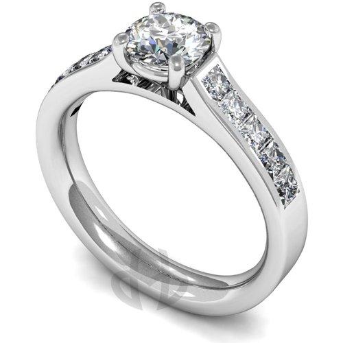 18ct White Gold Princess GIA Diamond Engagement Ring