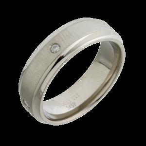 Diamond Wedding Ring (T10013-7-5X5) Titanium