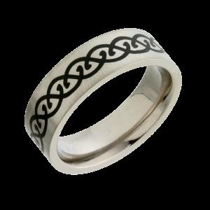 Enamel Inlaid (T14401-7) Titanium Wedding Ring