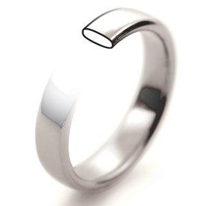 Plain Slight Court Wedding Rings - 18ct White Gold