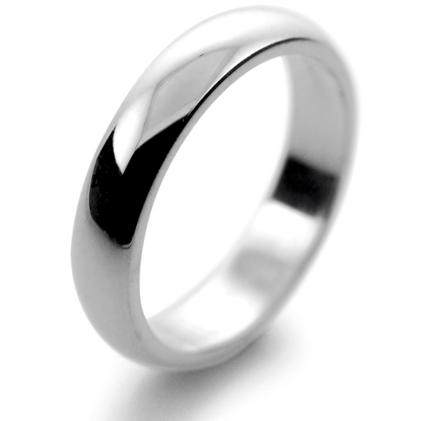 Palladium Wedding Ring 4mm Medium Traditional Court