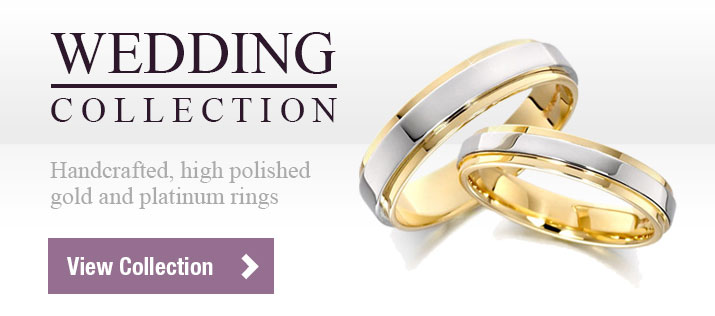 Wedding Collection - Handcrafted, high polished gold and platinum rings - View Collection